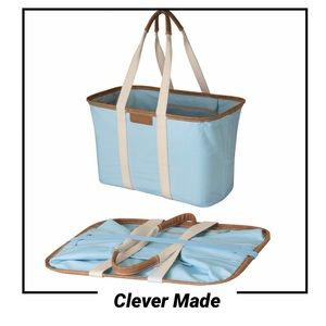 NWT Clever Made Collapsible Vegan Leather Tote